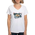 Wyoming Flag Women's V-Neck T-Shirt
