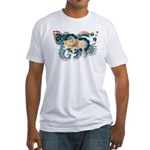 Wyoming Flag Fitted T-Shirt