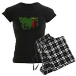 Zambia Flag Women's Dark Pajamas