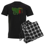 Zambia Flag Men's Dark Pajamas