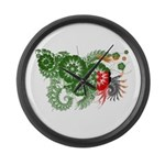 Zambia Flag Large Wall Clock