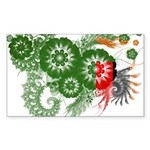 Zambia Flag Sticker (Rectangle 10 pk)