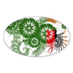 Zambia Flag Sticker (Oval 10 pk)
