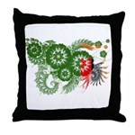Zambia Flag Throw Pillow