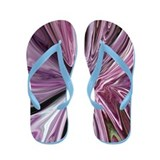 """Purple Cabbage Abstract"" Flip Flops"