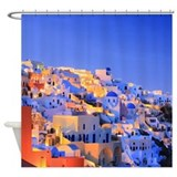 Santorini Evening Shower Curtain