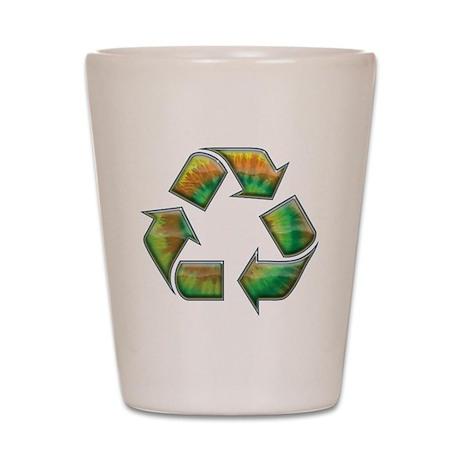 Recycle -Tie-Dye Shot Glass