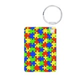 Autism Puzzle Aluminum Photo Keychain