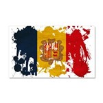 Andorra Flag Car Magnet 20 x 12