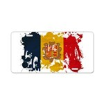 Andorra Flag Aluminum License Plate