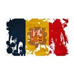 Andorra Flag 38.5 x 24.5 Wall Peel