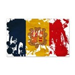 Andorra Flag 22x14 Wall Peel