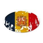 Andorra Flag 22x14 Oval Wall Peel