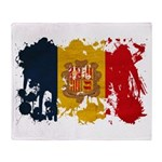 Andorra Flag Throw Blanket