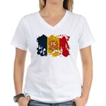Andorra Flag Women's V-Neck T-Shirt