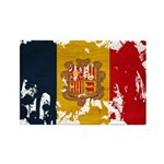 Andorra Flag Rectangle Magnet