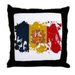 Andorra Flag Throw Pillow