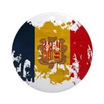 Andorra Flag Ornament (Round)
