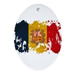 Andorra Flag Ornament (Oval)