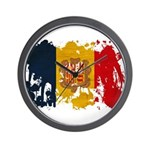 Andorra Flag Wall Clock
