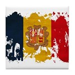 Andorra Flag Tile Coaster