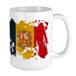 Andorra Flag Large Mug