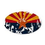 Arizona Flag 38.5 x 24.5 Oval Wall Peel