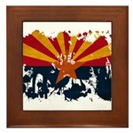 Arizona Flag Framed Tile