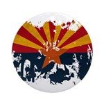 Arizona Flag Ornament (Round)