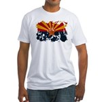 Arizona Flag Fitted T-Shirt
