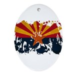 Arizona Flag Ornament (Oval)