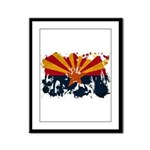 Arizona Flag Framed Panel Print