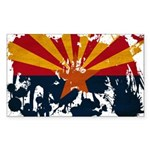 Arizona Flag Sticker (Rectangle)