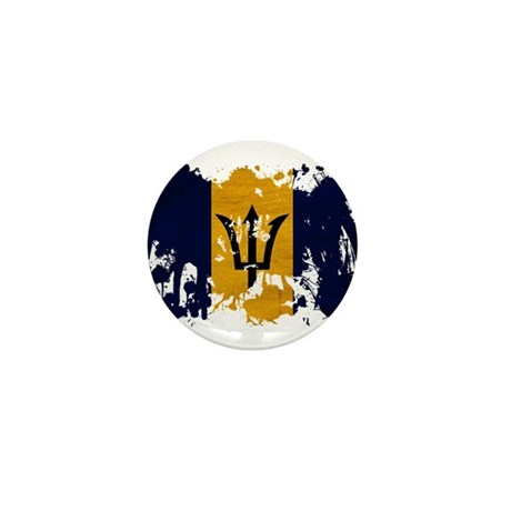 Barbados Flag Mini Button