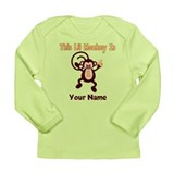 1st Birthday Monkey Long Sleeve Infant T-Shirt