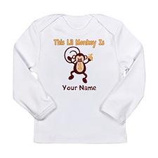 1st Birthday Monkey Long Sleeve Infant T-Shirt