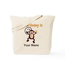 1st Birthday Monkey Tote Bag