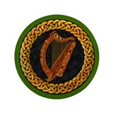 "CELTIC HARP 3.5"" Button"