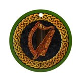 CELTIC HARP Ornament (Round)