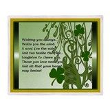 Wishing you always Irish Blessing Throw Blanket
