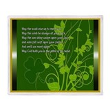 May the Road Rise irish Blessing Throw Blanket
