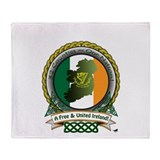 Free and United Ireland Throw Blanket