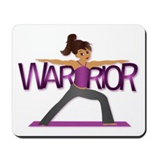 Warrior Yoga Girl Mousepad