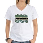 Botswana Flag Women's V-Neck T-Shirt