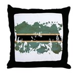 Botswana Flag Throw Pillow