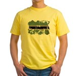 Botswana Flag Yellow T-Shirt