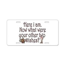 Two wishes Aluminum License Plate