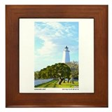 Ocracoke Lighthouse. Framed Tile