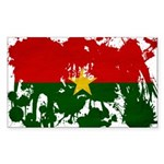 Burkina Faso Flag Sticker (Rectangle 50 pk)