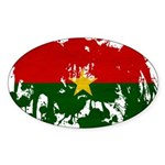 Burkina Faso Flag Sticker (Oval)